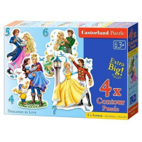 Пазл 4 в 1 Влюбленные принцессы D2-04461 Castor Land