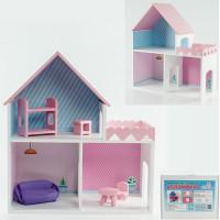 Дом Пломбир с интерьером и мебелью розовый