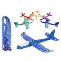 Самолет с подсветкой пенопластовый 50*48*6,5 см S 03