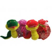 Змея 16см мешок для подарков 2цв.141-423