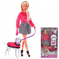 Штеффи Кукла на прогулке с далматинцем 29 см 5738053