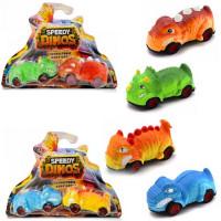 Игров. набор Скоростные динозавры с 2 фрикционными машинками 2 вида Speedy Dinos K02SPD002