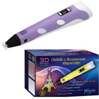 Набор ДТ Ручка 3D детская фиолетовая 3D-PEN-SC-3-purple HONYA
