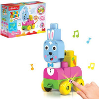 Игрушка музыкальная Зайчик Talky Blocks кнопочка 4630027291707