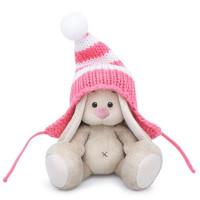 Зайка Ми в полосатой розовой шапке малыш SidX-287