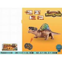 Динозавр р/у 192F подсветка, звук в кор.