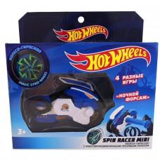 Hot Wheels Spin Ночной Форсаж пуск. механизм с диском, 12 см, син. Т19366