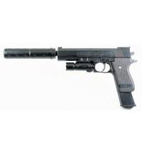 Пистолет IT102372 с лазерным прицелом и глушителем