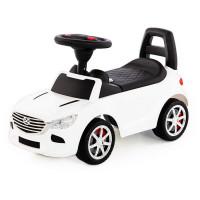 Каталка-автомобиль SuperCar №4 со звуковым сигналом белая 84514 П-Е /1/