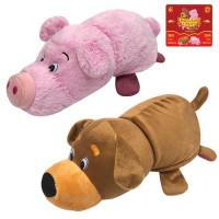 Игрушка Вывернушка 2 в 1 Собака-Свинья 35 см 1toy Т13796-18