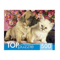Пазл 500 Щенок и котенок КБТП500-6800