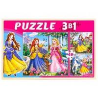 Пазл 3 в 1 Мир принцесс П-2477