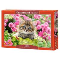 Пазл 500 Котенок в цветах В-52974 Castor Land