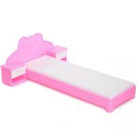 Мебель Кровать для куклы Розовая С-1387 Огонек