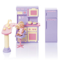 Мебель Кухня Маленькая принцесса нежно-сиреневая С-1438 Огонек