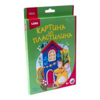 "Набор ДТ Картина из пластилина ""Мышка у домика"" Пз/Пл-012 Lori"