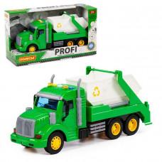 Автомобиль Профи контейнеровоз инерционный со светом и звуком зеленый в кор. 86259 П-Е /8/