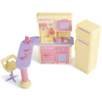 Мебель Кухня Маленькая принцесса лимонная С-1437 Огонек