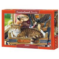 Пазл 500 Кот в ящике В-53476 Castor Land