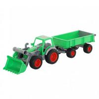 Трактор-погрузчик Фермер-техник с прицепом в сетке 8817 П-Е
