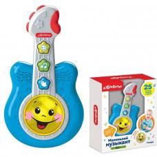 Гитара Маленький музыкант синий 4680019285764