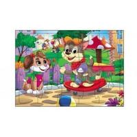 Пазл-рамка 15 Веселые щенки П15-6989