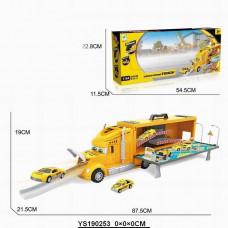 Гараж 660-А18 автотрейлер со съездом, 2 машинки в кор.