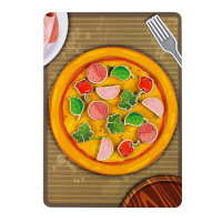 Дер. Липучка пицца с колбасой 30201