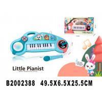 Пианино 9029 с микрофоном на бат. в кор.