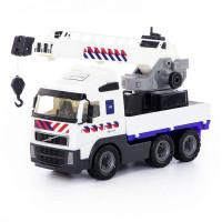 Автомобиль Volvo кран с поворотной платформой полицейский NL в сеточке 77318/П-Е/ /2/