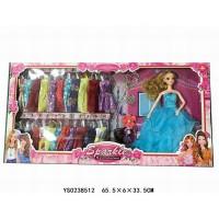 Кукла 8602AJJ с набором платьев в кор.