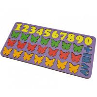 Дер. Обучающий набор Арифметика Бабочки,цвет, планшет 28*14см 6101211