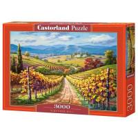 Пазл 3000 Виноградный холм С-300587 Castor Land
