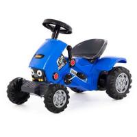 Каталка-трактор с педалями Turbo-2 синяя 84644 П-Е /1/