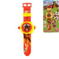 Игрушка на бат. Часы Маша и Медведь с проекцией 1266129-R3B