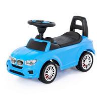 Каталка-автомобиль SuperCar №5 со звуковым сигналом голубая 84521 П-Е /1/