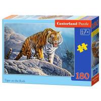 Пазл 180 Тигр на скале В1-018451 Castor Land