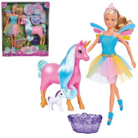 Штеффи Кукла в разноцветном платье с беременным единорогом 29 см 5733313