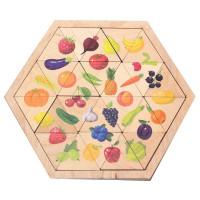 Дер. Пазл Овощи, фрукты, ягоды Занимательные треугольники 00778