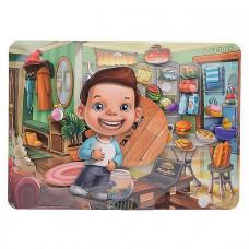 Дер. Игра на липучке 2в1 Наведи порядок и покорми малыша ПСД173