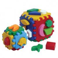 Логич.игрушка Куб Умный малыш 1+1 Т1899 /интелком/