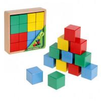 Дер. Кубики 16шт цветные АЦ2200