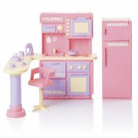 Мебель Кухня Маленькая принцесса розовая С-1436 Огонек