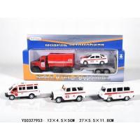 Машина инерц. 205-4 Пожарные грузовик с актомобилем в кор.