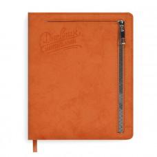 Дневник д/1-11 кл. Оранжевый 50932 иск. кожа