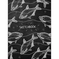 Скетчбук А5 466-5-303-51614-4 Белые рыбы