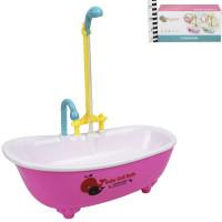 Ванночка для куклы 001JN водичка в душе, в кор.