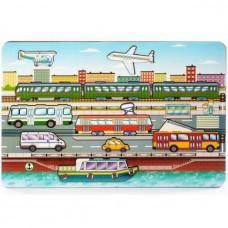 Дер. Рамка-вкладыш Городской транспорт 8013