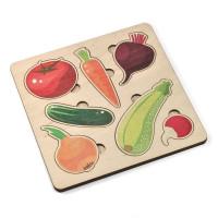 Дер. Игра развивающая Овощи 00760