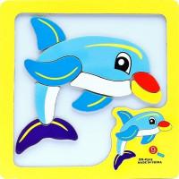 Дер. Пазл-рамка магнитная Дельфин AN02651